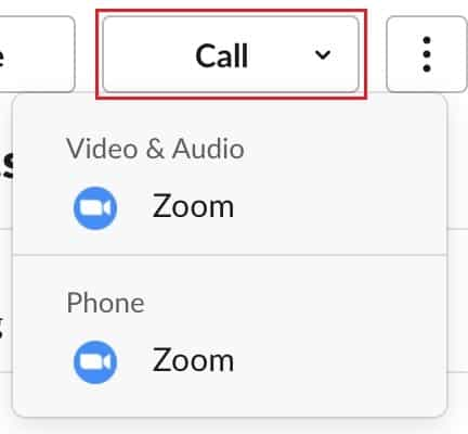Calling a Slack teammate directly through Zoom via their profile card