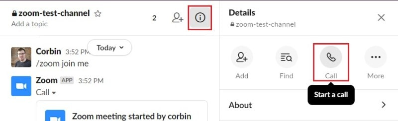 Shortcut to start a Zoom meeting within a Slack channel