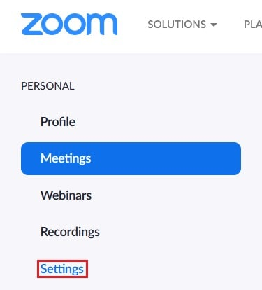 Getting to your settings menu on Zoom