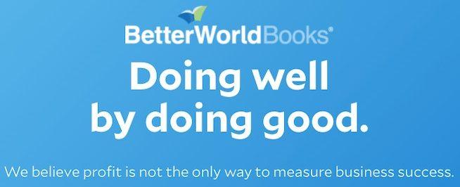 better world books logo and motto