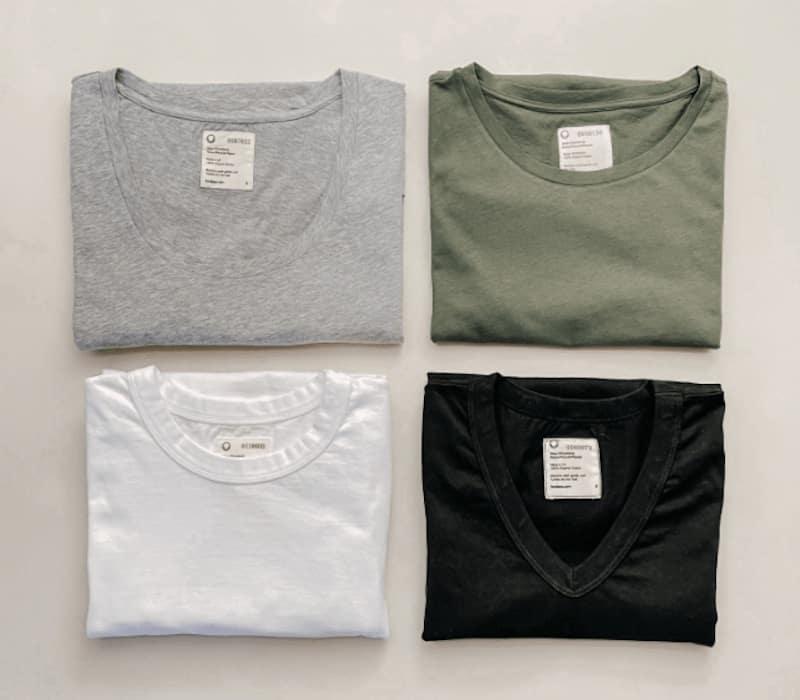 four t shirts
