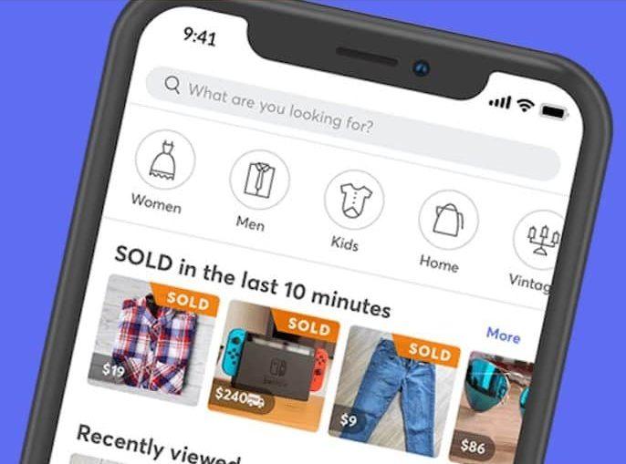 mercari app screen