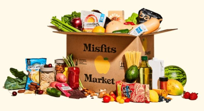 Misfits Market grocery box with fresh produce