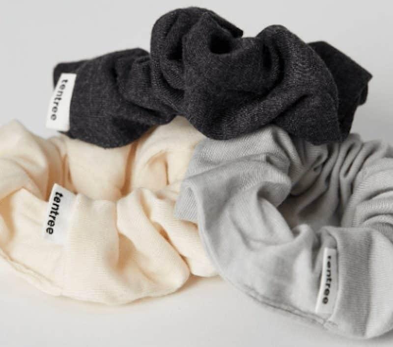 three tentree scrunchies