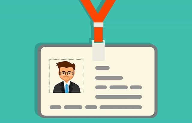 Illustration of a photo ID badge