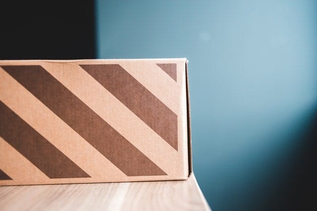 A parcel sitting alone on a table