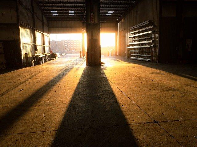 A warehouse loading bay