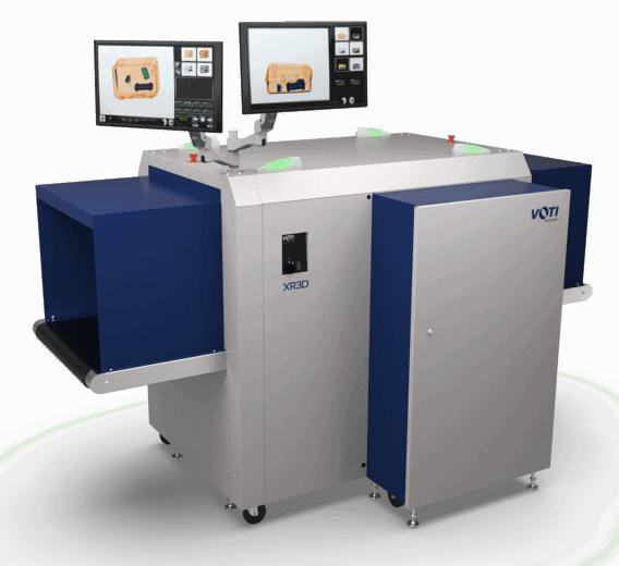 An X-ray scanning machine
