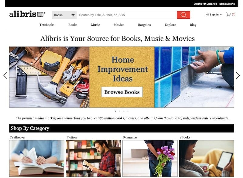 Alibris homepage