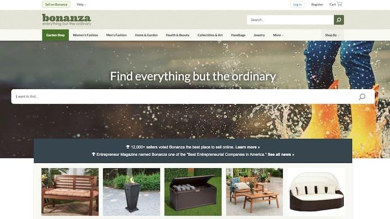 Bonanza homepage