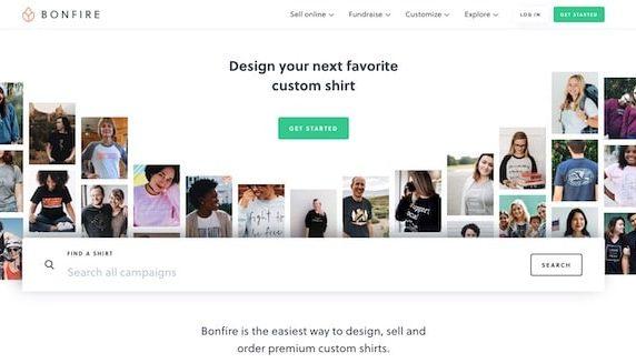 Bonfire homepage