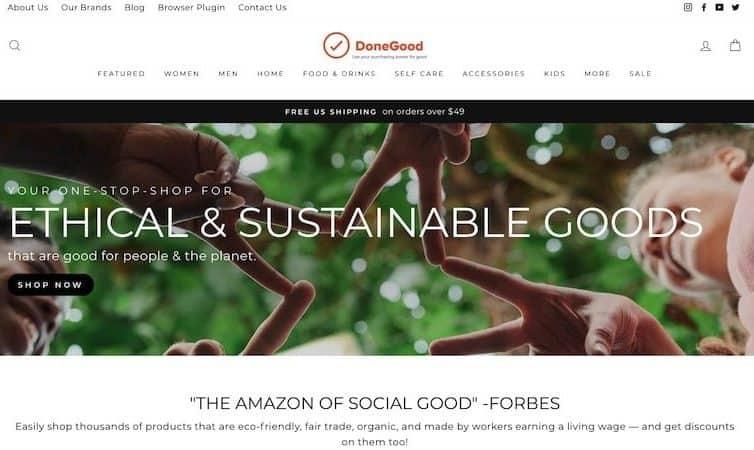 DoneGood homepage