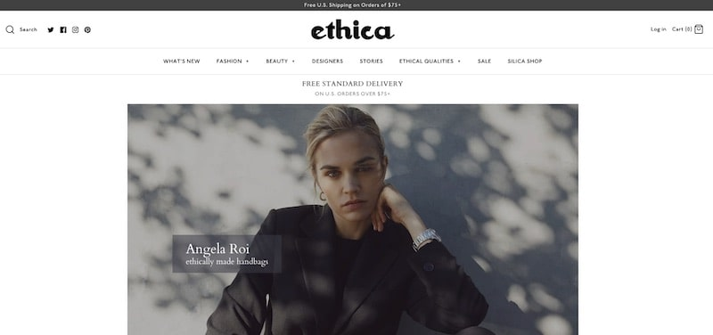 Ethica homepage