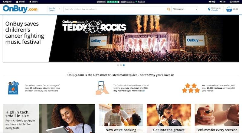 OnBuy homepage
