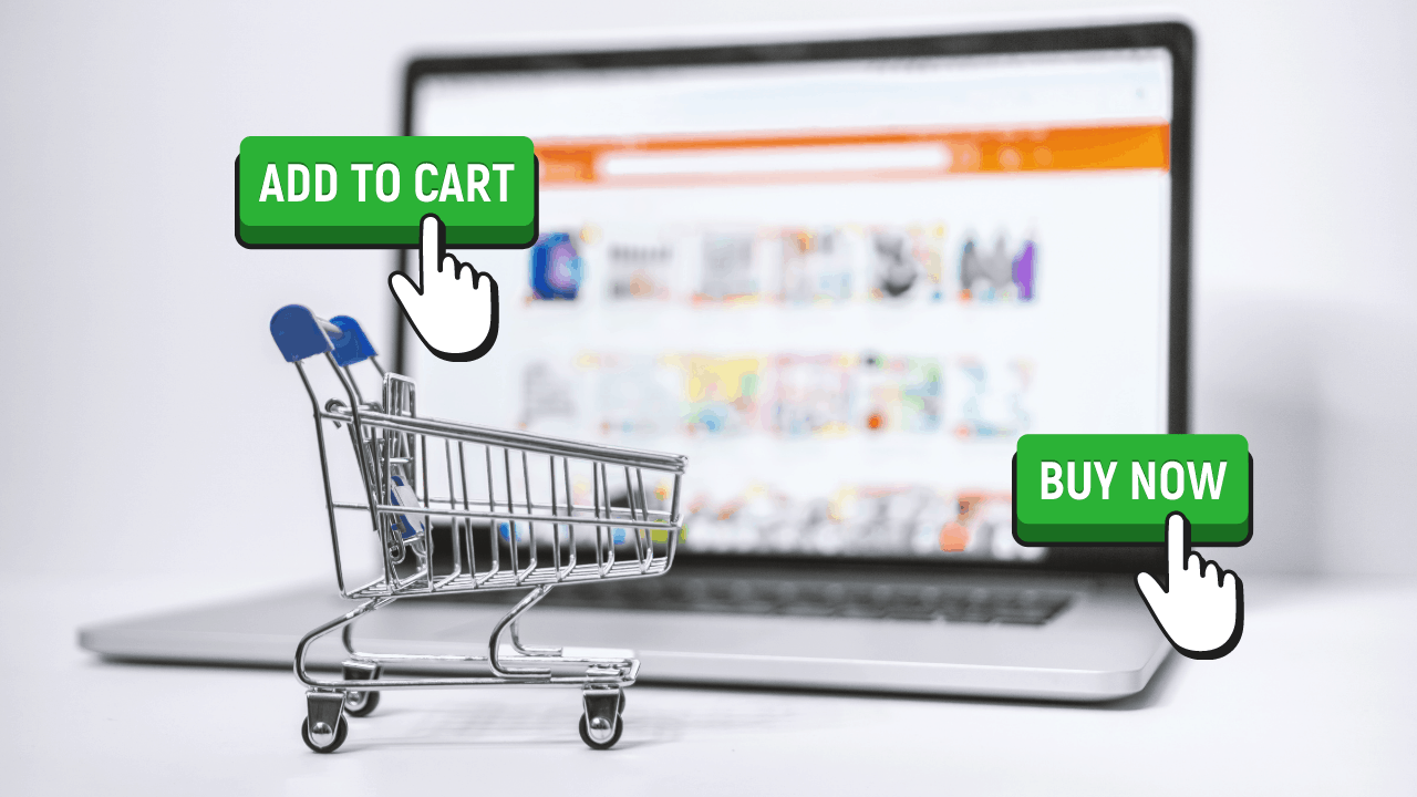 shopping cart with add to cart and buy now button