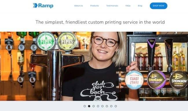 Ramp homepage