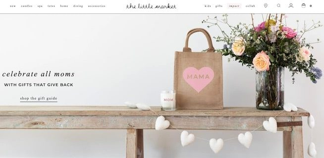 The Little Market homepage