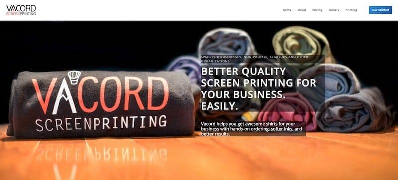 Vancord homepage