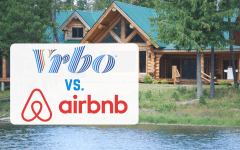 Vrbo vs. Airbnb on holiday home background