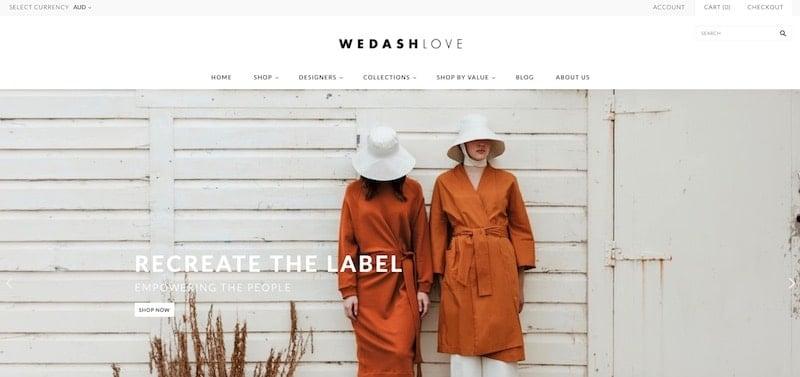 We Dash Love homepage